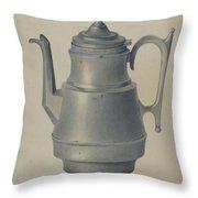 Pewter Teapot Throw Pillow