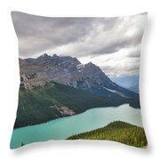 Peyto Lake - Banff National Park, Canada Throw Pillow