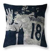 Peyton Manning Broncos 2 Throw Pillow