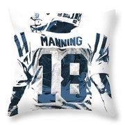 Peyton Manning Indianapolis Colts Pixel Art Throw Pillow
