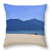 Pham Van Dong Beach Throw Pillow