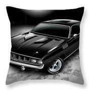 Phantasm 71 Cuda Throw Pillow