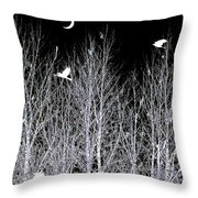 Phantom Birds Throw Pillow