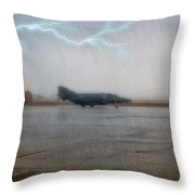 Phantom In The Storm Throw Pillow