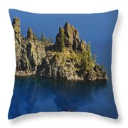 Phantom Tour Boat Throw Pillow