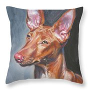 Pharaoh Hound Throw Pillow by Lee Ann Shepard