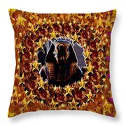 Pharaoh In The Starry Night Throw Pillow