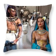 Pharaoh Of Egypt Exodus 2 Throw Pillow