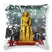 Pharaoh Of Egypt Throw Pillow