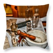 Pharmacist - Mortar And Pestle Throw Pillow by Paul Ward