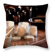 Pharmacist - Pestle And Cups Throw Pillow