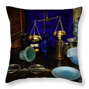 Pharmacist - Scale And Measure Throw Pillow