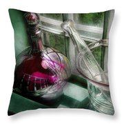 Pharmacy - The Apothecary Is Open  Throw Pillow
