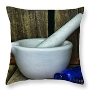 Pharmacy - Mortar And Pestle - Square Throw Pillow