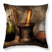 Pharmacy - Pestle - Home Remedies Throw Pillow