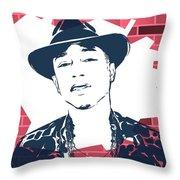 Pharrell Graffiti Tribute Throw Pillow