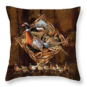 Pheasant Lodge Throw Pillow