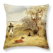 Pheasant Shooting Throw Pillow