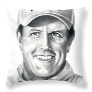 Phil Michelson  Throw Pillow