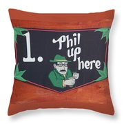 Phil Up Here Throw Pillow
