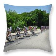 Philadelphia Bike Race - Manayunk Avenue Throw Pillow