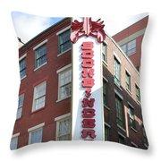 Philadelphia - Bookbinders Throw Pillow