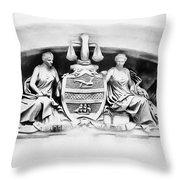 Philadelphia City Hall Fresco Throw Pillow