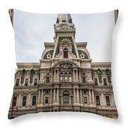 Philadelphia City Hall Throw Pillow