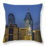 Philadelphia City Hall Skyline Throw Pillow