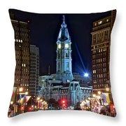 Philadelphia Downtown Throw Pillow