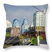 Philadelphia From Penns Landing Throw Pillow