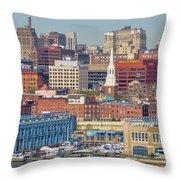 Philadelphia - From The Ben Franklin Bridge Throw Pillow
