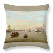 Philadelphia Harbor Throw Pillow