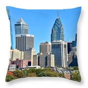 Philadelphia In Tight Throw Pillow