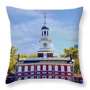 Philadelphia Landmark Throw Pillow