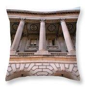 Philadelphia Library Pillars Throw Pillow