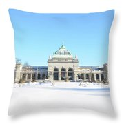 Philadelphia - Memorail Hall In Winter Throw Pillow