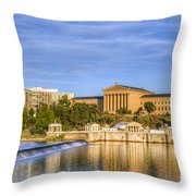 Philadelphia Museum Of Art Throw Pillow