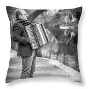 Philadelphia Music Man Bnw Throw Pillow