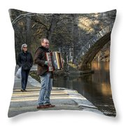 Philadelphia Music Man Throw Pillow