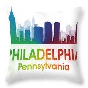 Philadelphia Pa Throw Pillow