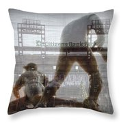 Philadelphia Phillies - Citizens Bank Park Throw Pillow by Bill Cannon
