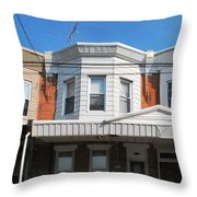 Philadelphia Row Houses Throw Pillow
