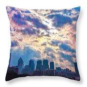 Philadelphia Sky Throw Pillow