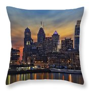 Philadelphia Skyline Throw Pillow
