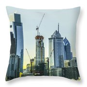 Philadelphia - Still Growing Throw Pillow