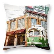 Philadelphia Trolley Throw Pillow