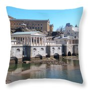 Philadelphia Waterworks And Art Museum Panorama Throw Pillow