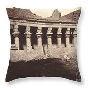 Philae, Cour Int?rieure, Colonnade De L'ouest Throw Pillow