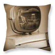 Philco Television  Throw Pillow by Mike McGlothlen
